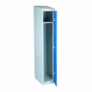Garderobeskap-1dørs-blå flatpakket