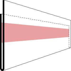 Etikettholder - dobbeltsidig tape - 1200x26mm - 50stk