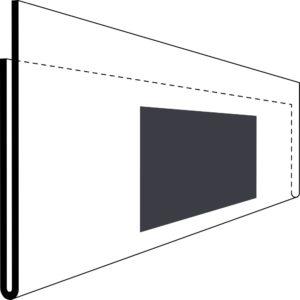 Etikettholder - magnet - 210x75mm - 50stk