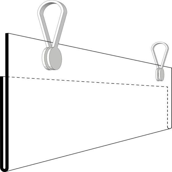 Etikettholder - 2stk klips - 105x26mm - 50stk