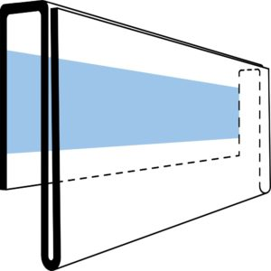 Etikettholder - skumtape - 940x26mm - 50stk