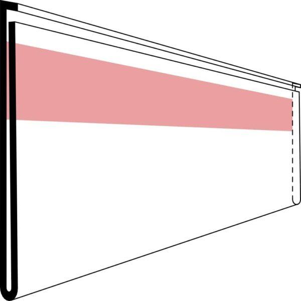 Etikettholder - dobbeltsidig tape - 1000x39mm - 50stk
