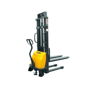 Pallstabler, semi-elektrisk. Praktisk stabler med 3 forskjellige løftehøyder og 1000kg kapasitet.
