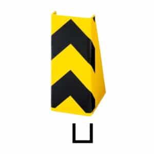 Stolpebeskyttelse beskytter både reol og truck.