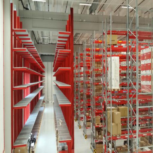 Bilde av leverte pallereoler og grenreoler hos Würth Norge AS